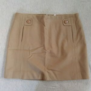 Tan wool J. crew mini skirt